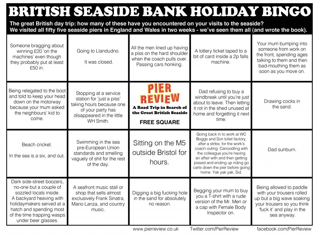 Bank Holiday Bingo Card